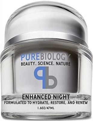 Pure Biology Anti Aging Night Cream w/ Pure Retinol, Hyaluronic Acid & Breakthrough Anti Wrinkle Technology – Moisturizer For Face & Neck