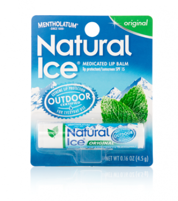 Mentholatum Natural Ice Medicated Lip Balm - Original SPF 15