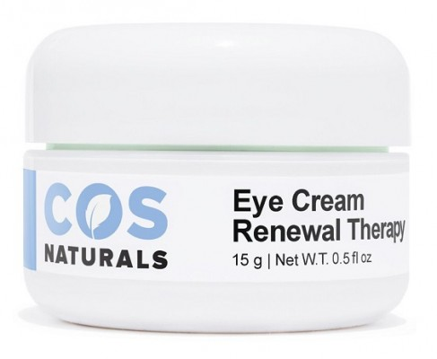 COS Naturals Renewal Therapy Eye Cream with Vitamin C E Hyaluronic Acid for Dark Circles Puffiness Fine Lines and Wrinkles