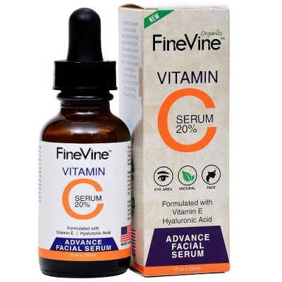 FineVine Vitamin C Serum for Face with Hyaluronic Acid