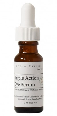 Face n Earth Dark Circle Wrinkle Puffy Eye Caffeine Gel Serum 89% Organic - Potent Formula - Vegan Toxic Free