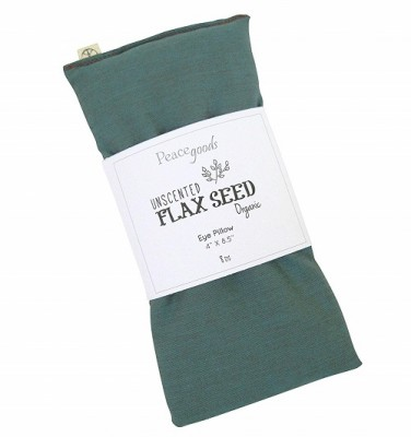 Unscented Organic Flax Seed Eye Pillows - 4 x 8.5 - Soft & Soothing Cotton