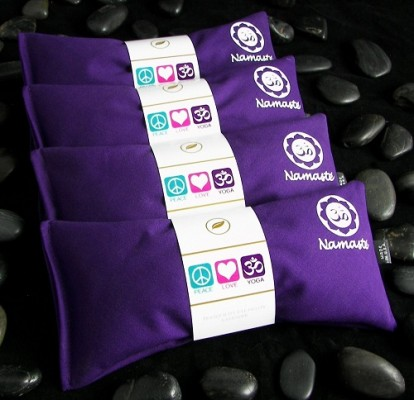 Happy Wraps Hot Cold Lavender Eye Pillows / Namaste Yoga Lavender Eye Pillow