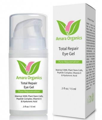 Amara Organics Total Repair Eye Gel with Peptides and Plant Stem Cells