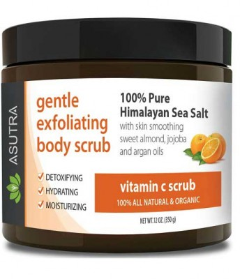 ASUTRA Vitamin C Scrub / Gentle Exfoliating Body Scrub