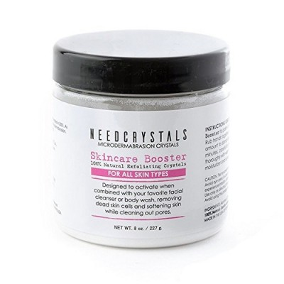 Microdermabrasion Crystals (8 oz, 120 Grit), Face Scrub All-Natural Rejuvenating Skin Face Exfoliator - Treatment for Dull or Dry Skin, Wrinkles, Blemishes, Acne Scars