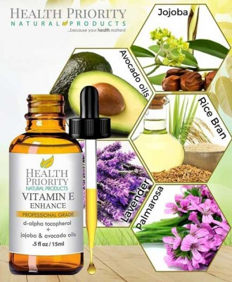 Health Priority Natural Products - 100% All Natural & Organic Vitamin E Oil / Vitamin E Enhance (Professional Grade)