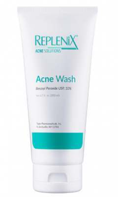 Replenix Acne Solutions Benzoyl Peroxide Wash, 5%, 10%