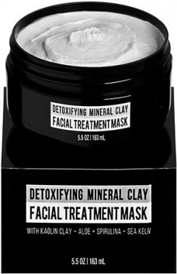 RUGGED & DAPPER Detoxifying Mineral Clay Men's Facial Treatment Mask