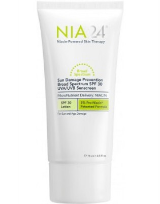 NIA24 Sun Damage Prevention Broad Spectrum SPF 30 UVA/UVB Sunscreen