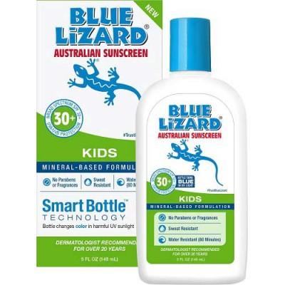 Blue Lizard Australian Sunscreen Kids 5 oz Bottle with 30+ SPF Broad Spectrum UVA/UVB Protection