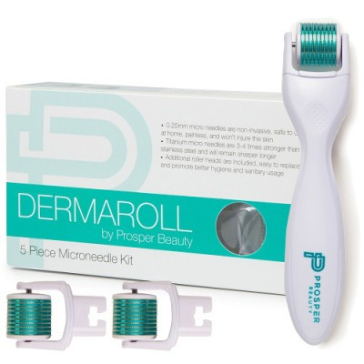 DERMAROLL by Prosper Beauty (5 Piece Microneedle Derma Roller Kit)