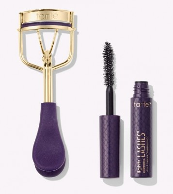 TARTE Picture Perfect Eyelash Curler and Deluxe Lights, Camera, Lashes Mascara